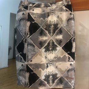 Calvin Klein Bobbi Bricka Diamond Patchwork Skirt